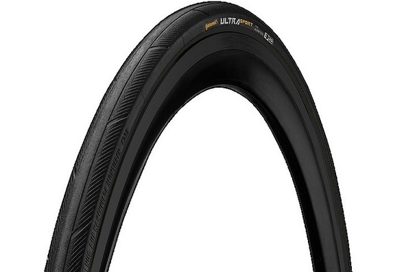 "Continental Ultra Sport III, 27x1-1/4"", Tire, Wire, Black"