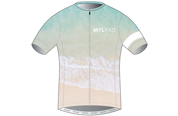 MTLFXD Limited Run, Pro Jersey, Beach Foam Fade, Large/Short Cut