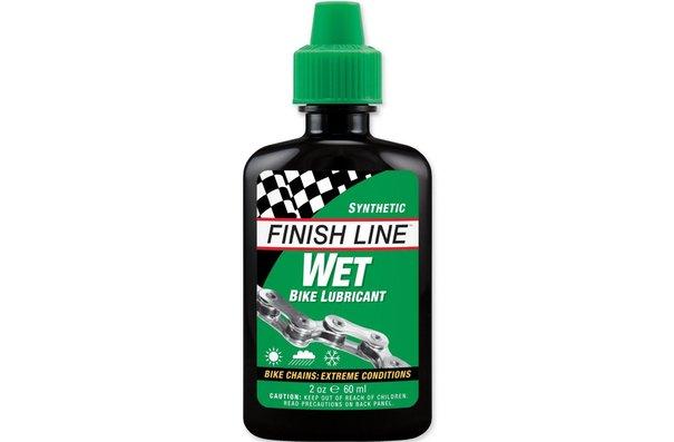 Finish Line Wet Lube, Lubrifiant à chaîne, 2oz (60ml)