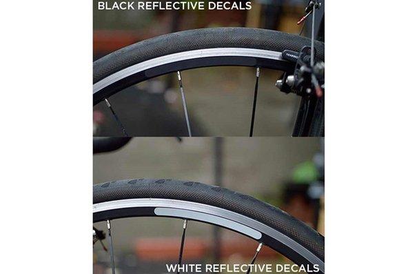 GLINT Reflective Autocollants réfléchissants pour roues, Kit, Noir