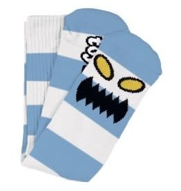 Toy Machine Toy Machine Monster Big Stripe Socks (light blue)