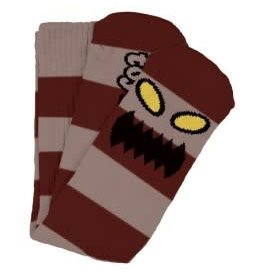 Toy Machine Toy Machine Monster Big Stripe Socks (burgundy)