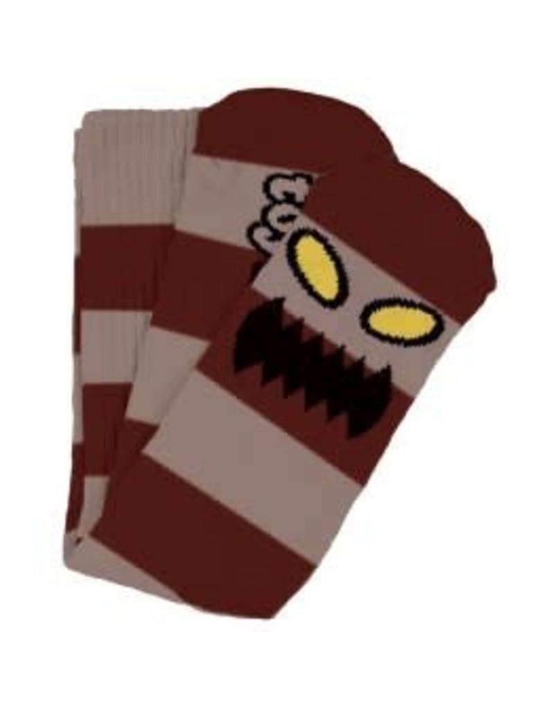Toy Machine Toy Machine Monster Big Stripe Socks (burgundy)