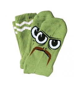 Toy Machine Toy Machine Turtleboy Stache Socks (lime)