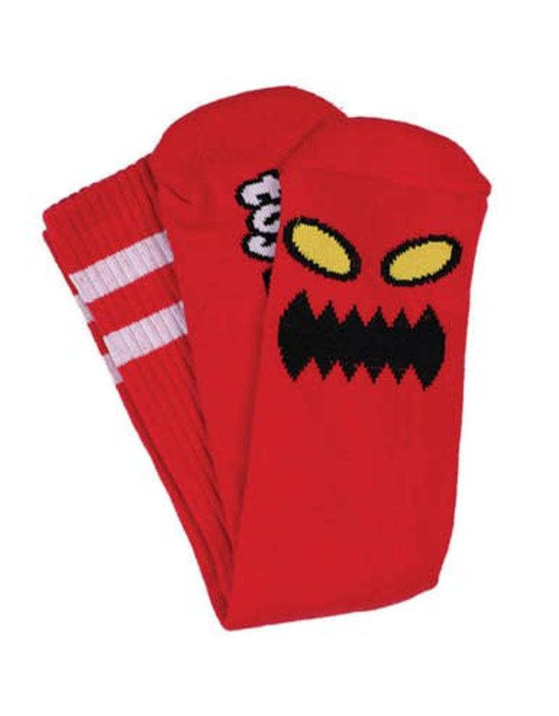 Toy Machine Toy Machine Monster Face Socks (Red)