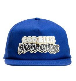 Fucking Awesome Fucking Awesome God Bless FA Hat (royal)