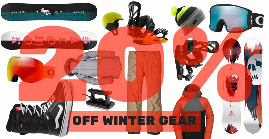 20% OFF WINTER GEAR