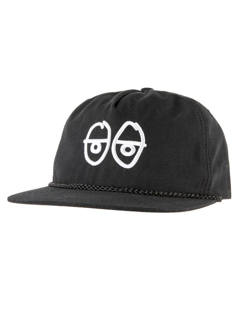 Krooked Krooked Stock Eyes Snapback Hat (black/white)