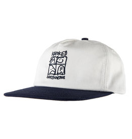 Krooked Krooked KD Ultra Snapback Hat (cream/navy)