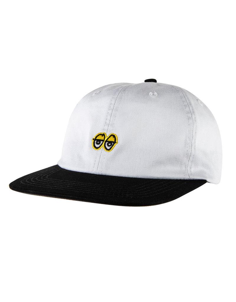 Krooked Krooked Eyes Strapback Hat (White/Black/Charcoal)