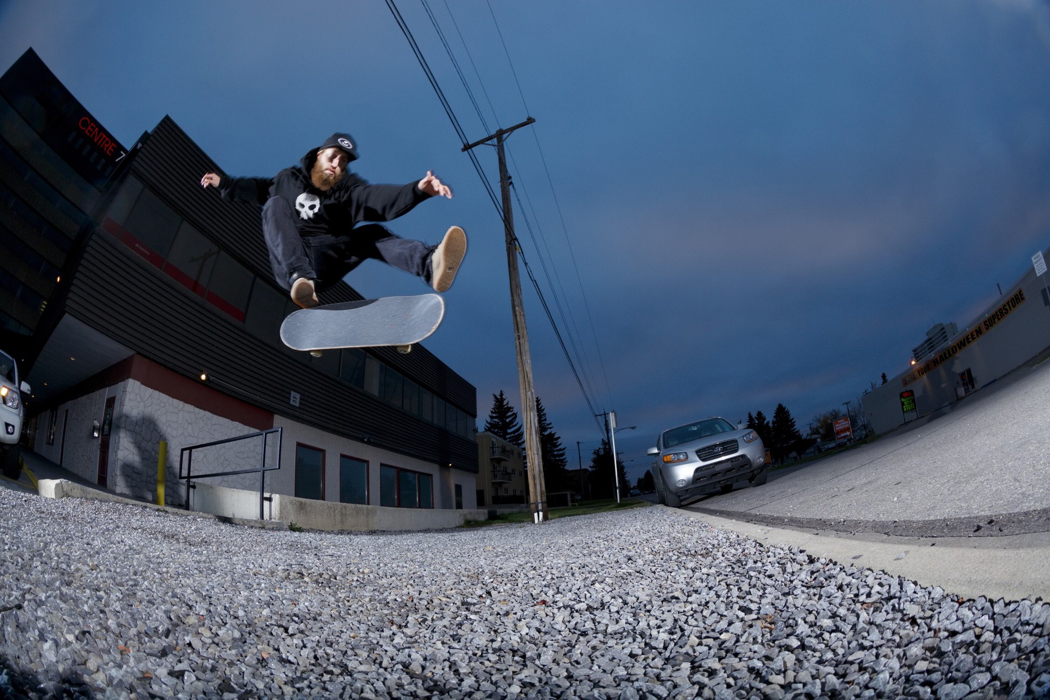 Ryan Spate Kickflip Calgary Skateboarding Liam Glass Photo