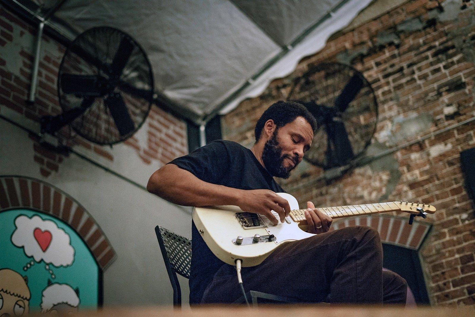 Ray Barbee Playing Guitar