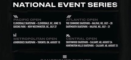 Olympic Skateboarding Qualifier Events Announced Around Canada