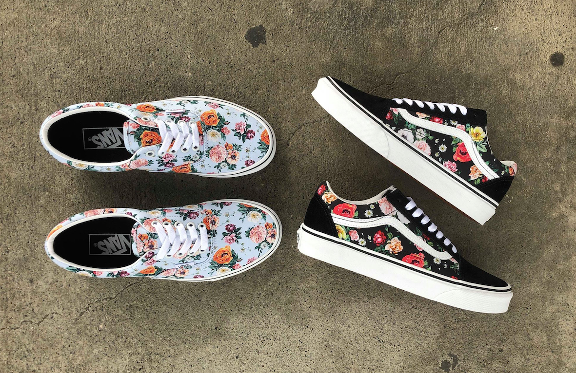 New Vans Floral Print Shoes The Garden Floral Pack