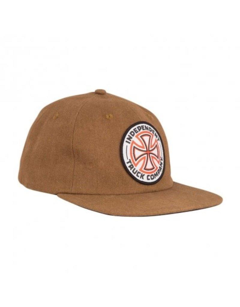 Independent Independent Cross Snapback Hat (Brown)