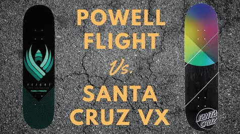 Powell Peralta Flight Decks Vs. Santa Cruz VX Decks Review