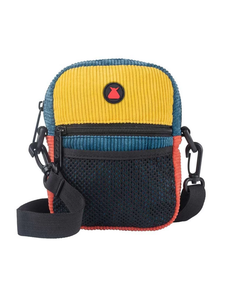 Bumbag Compact Shoulder Pack Groove (navy yellow maroon)