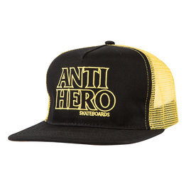 Anti Hero Anti Hero Blackhero Outline Trucker Hat (black/gold)