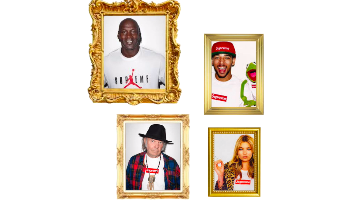 Supreme celebrity collabs