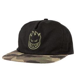 Spitfire Spitfire Bighead Snapback Hat (black/camo)