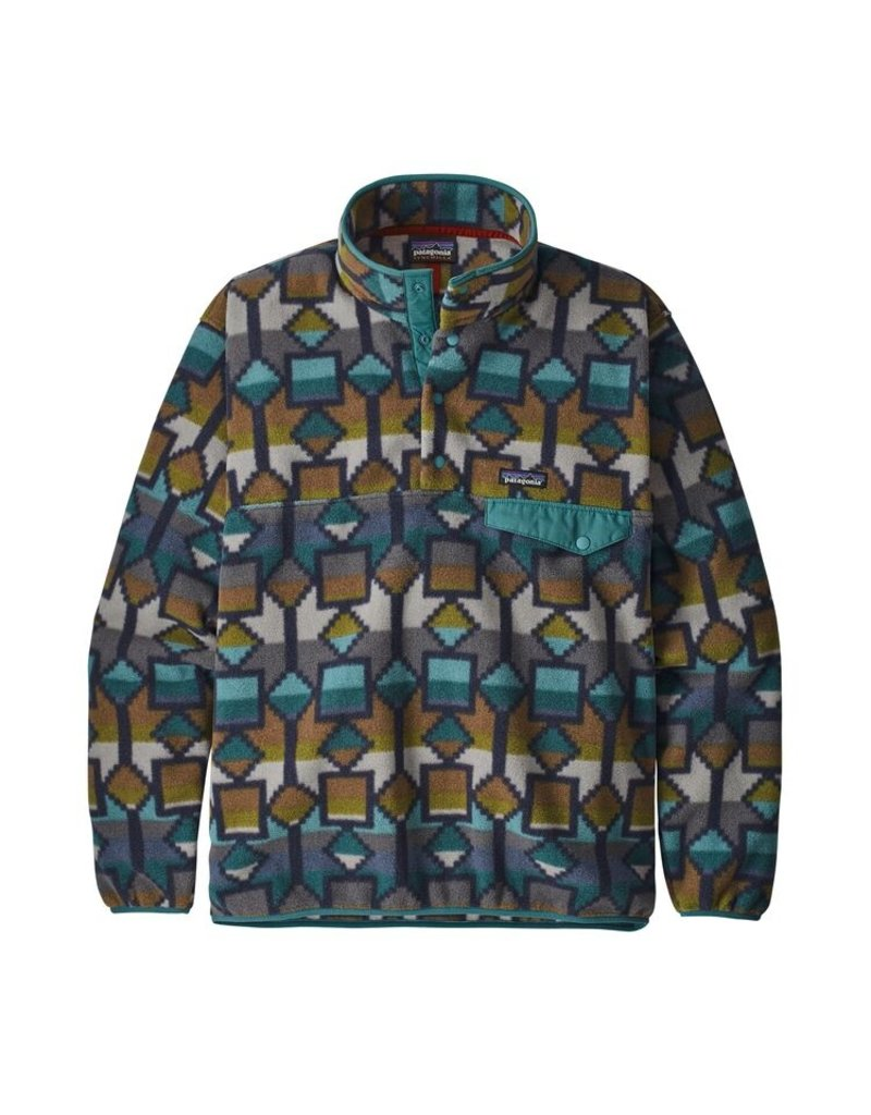 Patagonia Synch Snap T Sweater Online Canada Canyon Print