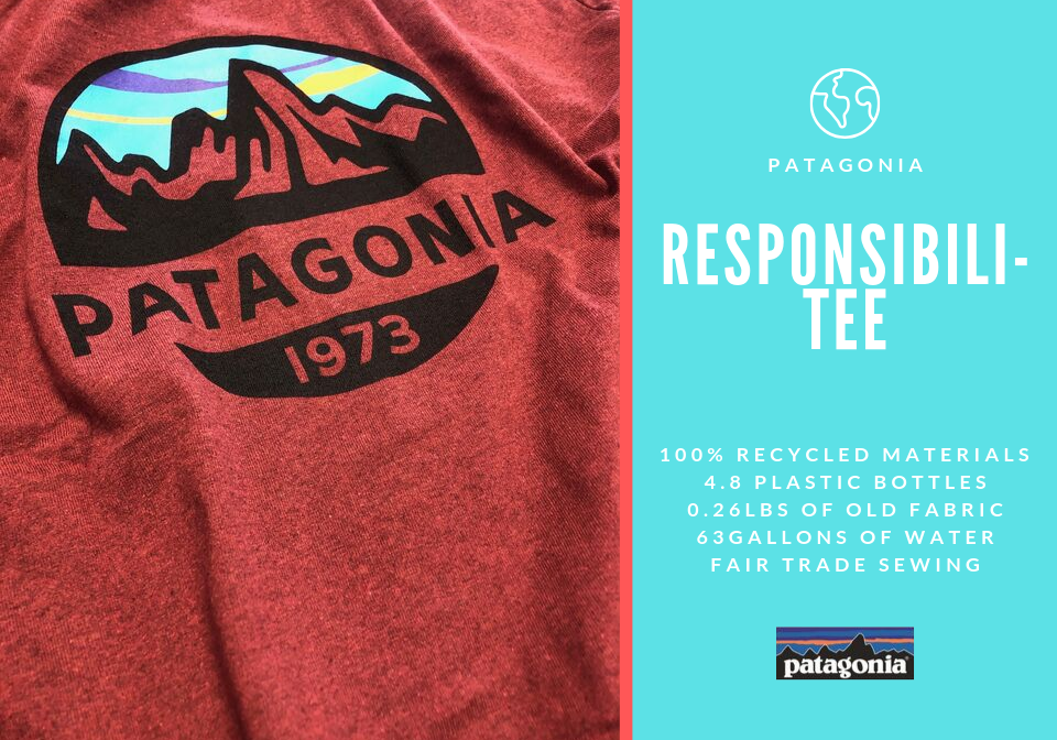 Patagonia Responsabili-Tee T-Shirts Infographic Stats Environmentally friendly clothing