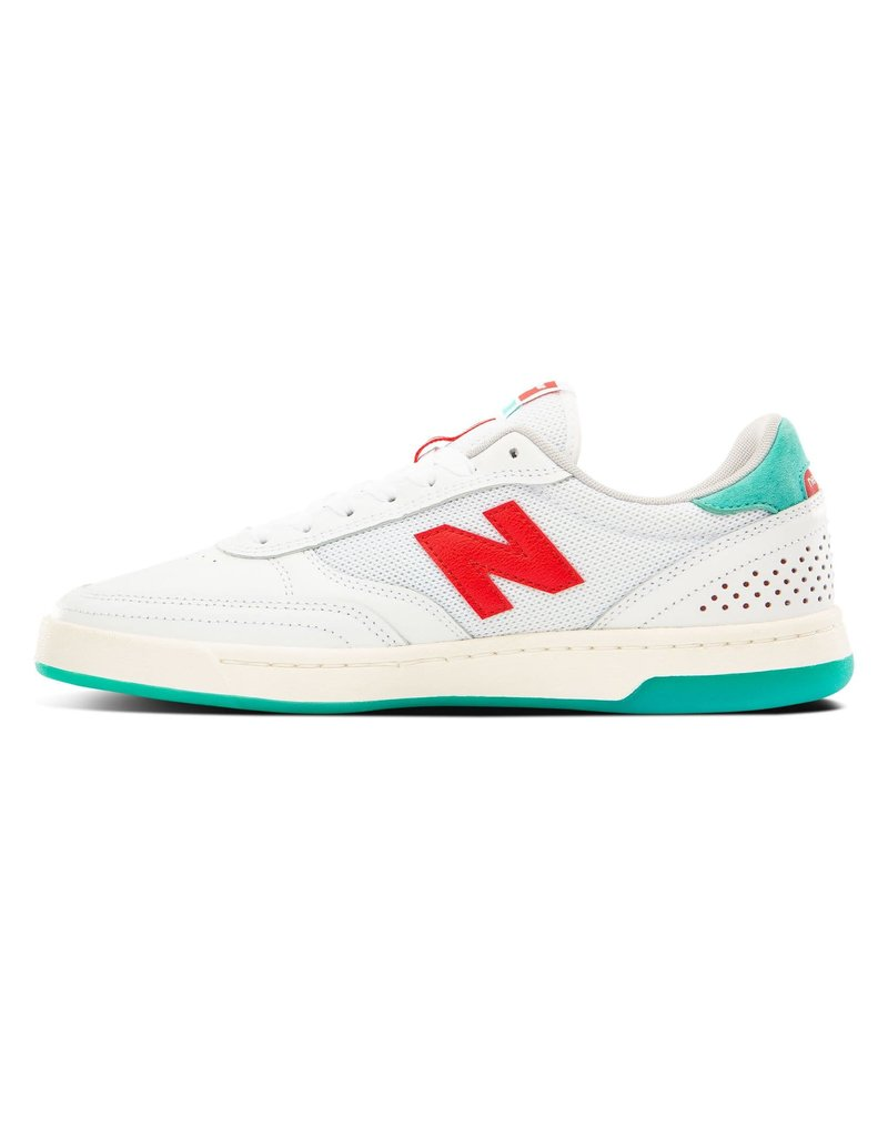 New balance #440 white red tom knox pro shoes