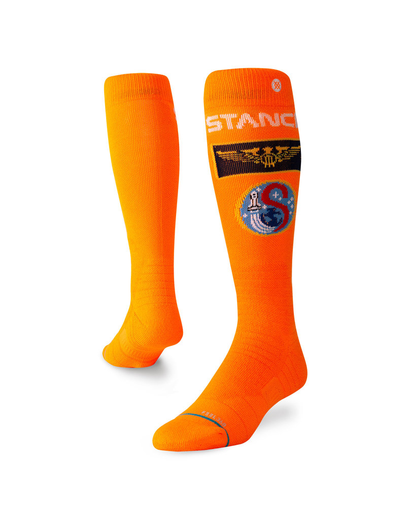 Stance snowboarding socks NASA space orange