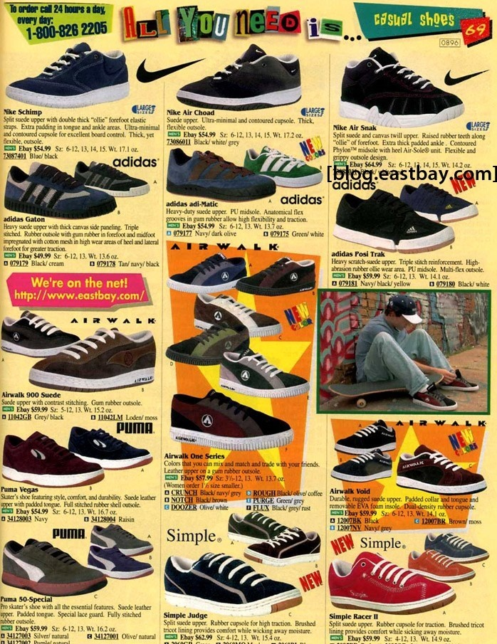 nike skateboarding shoes 1990s choad snak