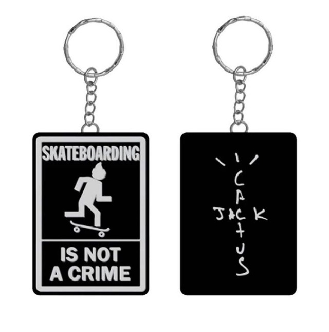 travis scott skateboarding poser keychain