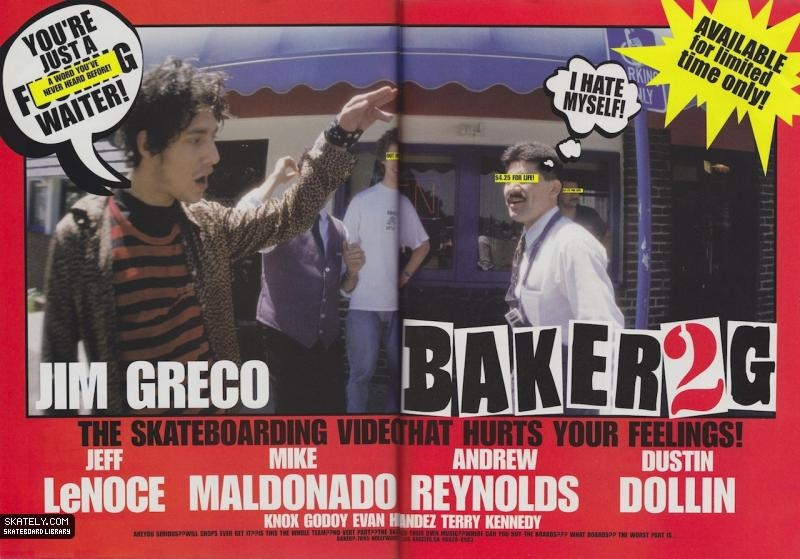 first baker skateboards ad ever