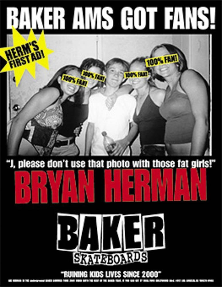 Bryan Herman Baker Skateboards Ad