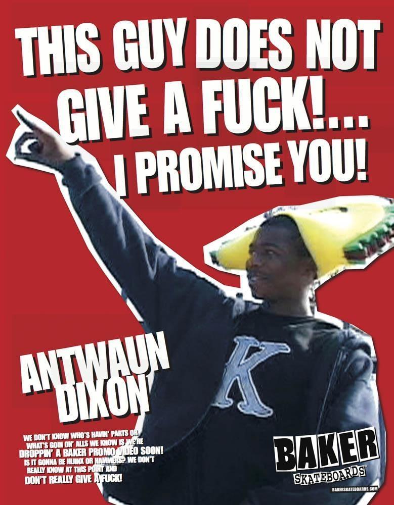 Antwuan Dixon 1st Baker Skateboards Ad