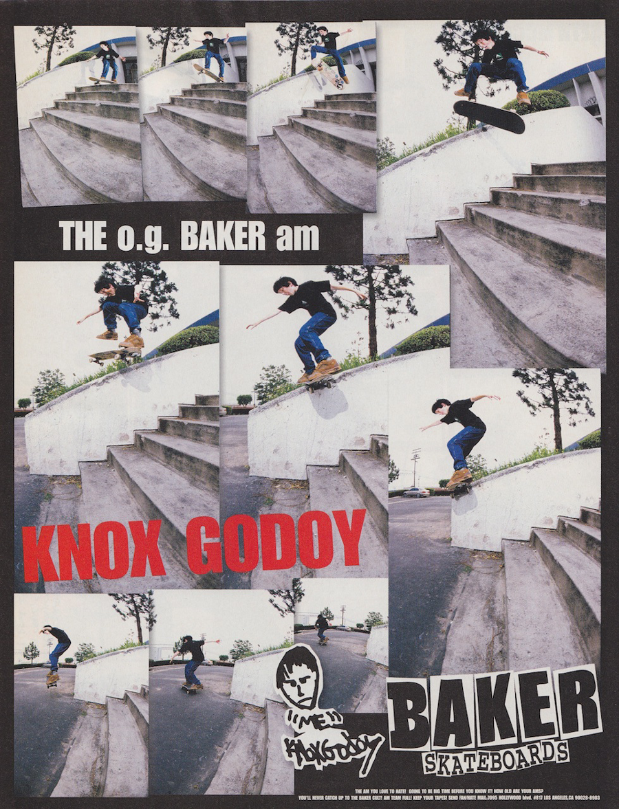 baker skateboards Knox Godoy original ad