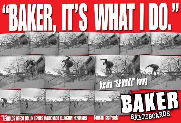Kevin Spanky Long Baker Skateboards Ad
