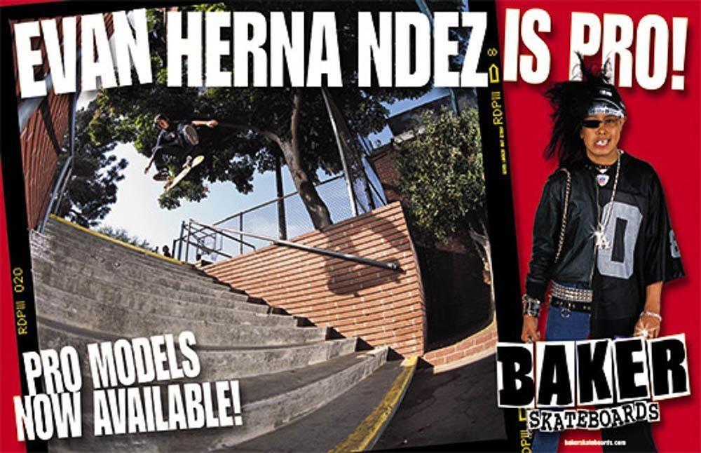 Baker Skateboards Evan Hernandez Ad