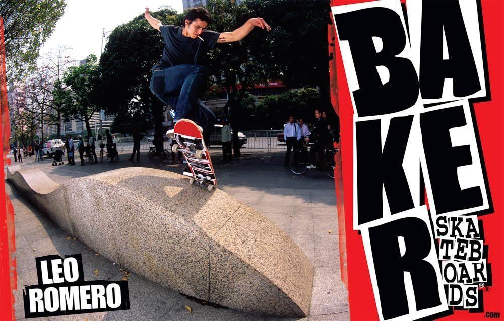Leo Romero Baker Skateboards pro Ad