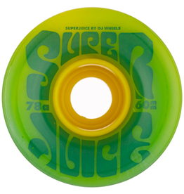 OJ Super Juice Soft Wheels 78A (60mm) Green/Yellow