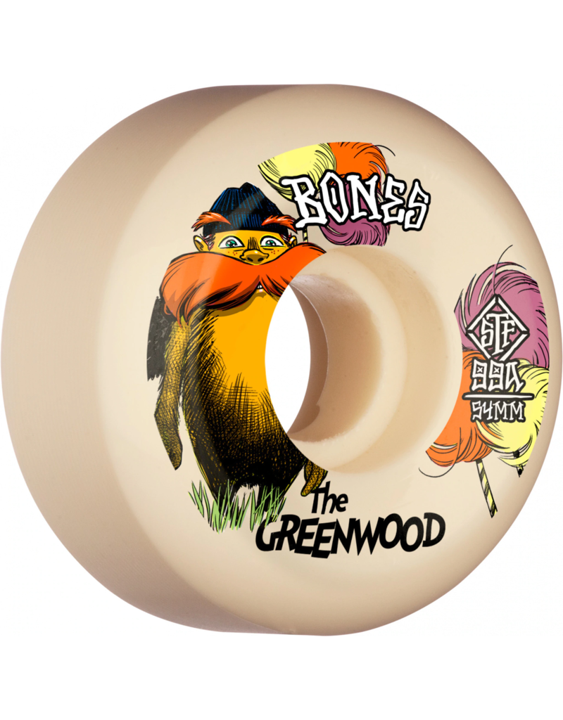 Bones Bones STF Greenwood Sidecut Wheels V5 (52mm)