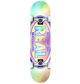 Real Real Oval Tie Dye (7.3) Mini Skateboard Completes