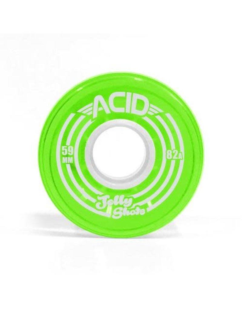 Acid Wheels Acid Jelly Shots Cruiser Soft Wheels (59mm) Green