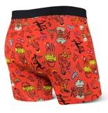Saxx Saxx Vibe Boxer Brief Underwear (red halloweenie)