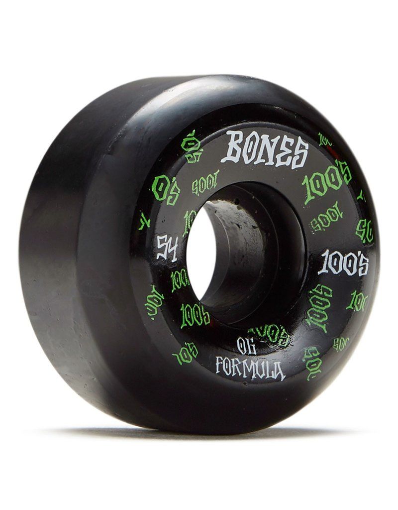 Bones Bones 100's Black Logo Sidecuts V5 Wheels (54mm)