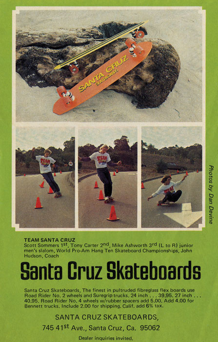 Santa Cruz Skateboards Retro Re-Issue skateboard deck ad