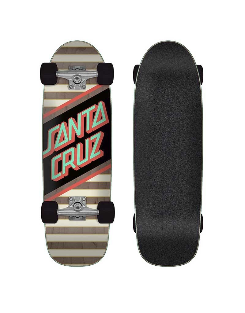 Santa Cruz Street Skate Cruizer Complete (8.79) Neon/Woodgrain