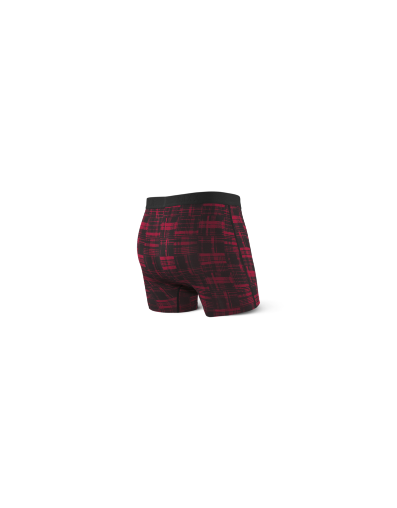 Saxx Saxx Vibe Boxers Red Patched Plaid