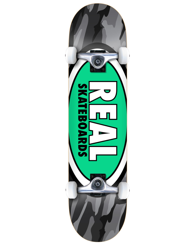 Real Real Team Oval Camo Complete Skateboard (8.25)