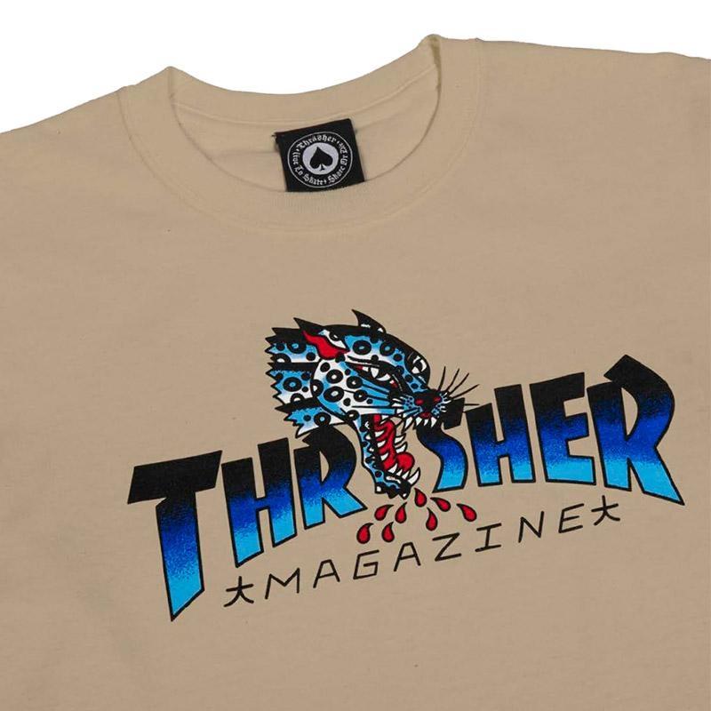 Thrasher leopard mag logo shirt