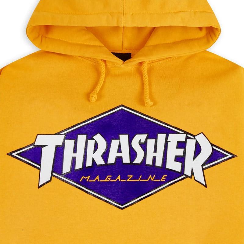 Thrasher Magazine Diamond logo hoodie gold online canada