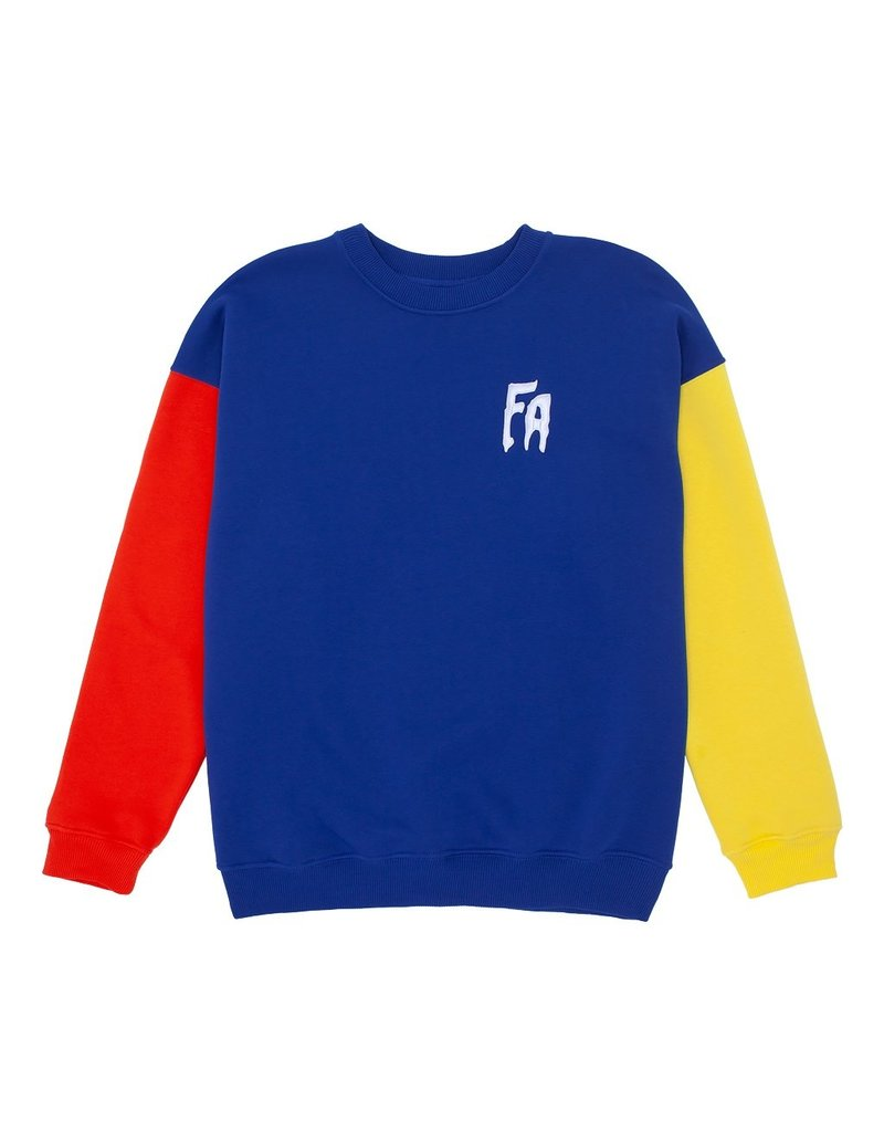 fucking awesome primary crew neck sweater
